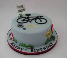 Discover recipes, home ideas, style inspiration and other ideas to try. Cake Icing, Eat Cake, Cupcake Cakes, Cupcakes, Bicycle Cake, Bike Cakes, Mountain Bike Cake, Mountain Biking, Single Tier Cake