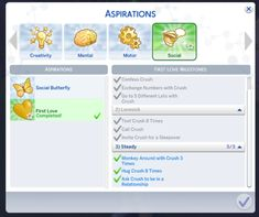 """Mod The Sims - Sims 4 """"First Love"""", Child Aspiration Sims 4 Game Mods, Sims Mods, Sims 4 Mods Clothes, Sims 4 Clothing, Sims 4 Cas, Sims Cc, Sims 4 Challenges, Sims 4 Traits, Innocent Love"""