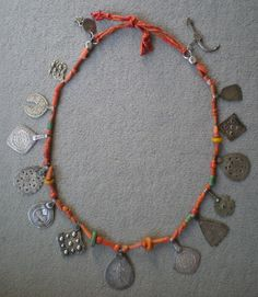 Old silver, coral, amber and amazonite berber necklace from South east Morocco, Draa valley | © Ayis, via Ethnic Jewels