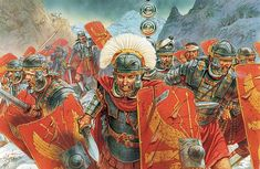 A Roman Centurion and legionaries in the Dacian Wars of the beginning of the 2nd cent. A.D.