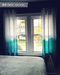 DIY Ombre Curtains for the new apartment, needs some colour!