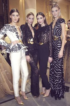 Another backstage peek … this time at the glamorous designs of Zuhair Murad …  xx debra via fashionising