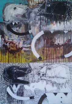 Pawel Kin - intentions (acrylic on canvas)