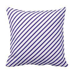 #stripes - #Purple Shed Art Blue Flag Stripe Throw Pillow