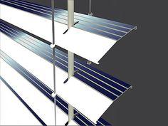 Persiana capta energia solar e ilumina a casa durante a noite