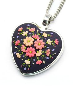 Polymer Clay Jewelry Polymer Clay Necklace Pendant by KittenUmka