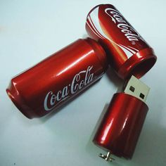 Coca Cola Tin USB Flash Drive  I Love Coke Stuff ! SHopkins I want one of these please.