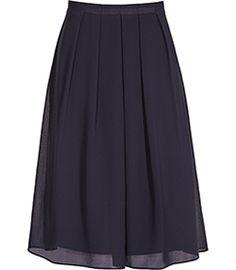 Womens Night Navy Pleated Skirt - Reiss Petulia