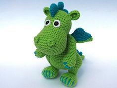 Dragon Draco - €4.00 by Veronika Maskova of Dione Design  Dragons - Animal Crochet Pattern Round Up - Rebeckah's Treasures
