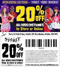 Spirit! Printable Coupon to use in-store or online
