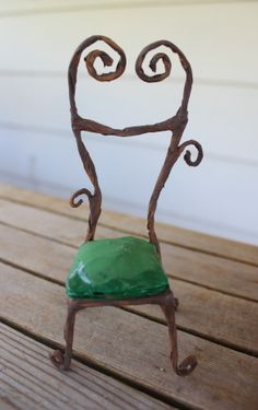 Fairy furniture miniature chair tutorial #fairygarden #beneaththeferns 1