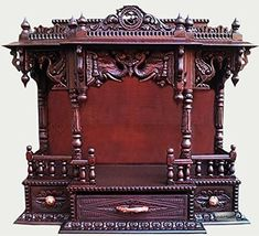 Pooja Room Mandir Designs in Wood