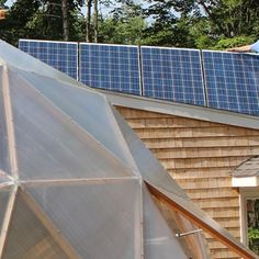 Going Off-Grid in the Aquaponic Geodesic Dome Greenhouse  I finally finished up the solar setup for the geodesic dome. It's amazing how you have to watch every watt you're consuming when you're not connected to the power company!  This video details how it all went together.  Enjoy!