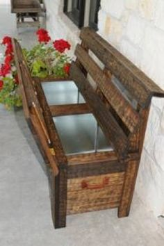 Rustic Cooler /  Ice Chest Bench