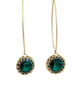 Dangle Swarovski Crystal crochet 14K gold filled #jewelry #earrings @EtsyMktgTool http://etsy.me/2i7IYSZ