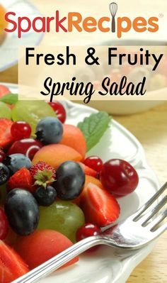 This fresh and fruity fruit salad is just what you want on a nice, spring day for breakfast or dinner. It even works as a healthy dessert option