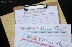 Menu Planner - Shopping List
