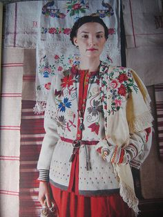 Lovely embroidered Swedish sweater