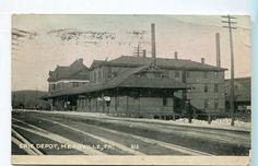MEADVILLE, PENNSYLVANIA. ERIE TRAIN STATION. 1912 | eBay