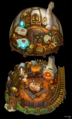 Home art fantasy 18 trendy Ideas Anime Art Fantasy, Fantasy Map, Fantasy Places, Environment Concept Art, Environment Design, Rpg Map, Isometric Art, Fantasy House, Game Concept