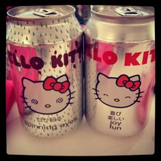 To drink Hello Kitty...