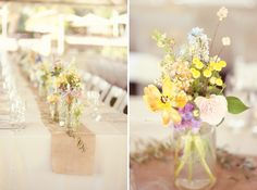 Colorful Rustic Eclectic California Wedding. Flowers by Awesome Blossoms.