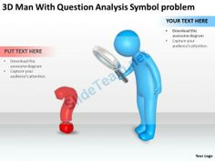 3D men with Question Analysis Symbol Problem Ppt Graphic Icon #Powerpoint #Templates #Infographics