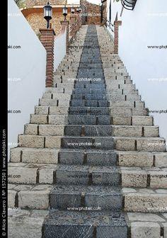 Escalera, pueblo, Mijas, Málaga