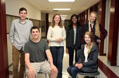 Horace Greeley High School has two newspapers and three magazines. Among this year's Greeley editors are, from left: Adam Linden, 17, and Jordan Stein, 17, of Advo; Sasha Wittaker, 17, co-editor of Satori; and Tribune co-editors-in-chief Aparna Nathan, 17, Eliza Rader, 16 (seated), and Anne Hart, 16. The fourth publication is the sports magazine The Quake is edited by twins David and Adam Shimer, juniors, and senior Andrew Sheinfeld, not pictured. Photo by Tania Savayan/The Journal News
