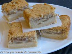 Gâteau magique aux poires et pralin  http://www.carmen-cuisine.com/2014/12/gateau-magique-aux-poires-et-pralin.html