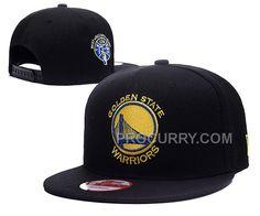 68a4b4dccdbbf Warriors Team Logo Black Adjustable Hat LX New