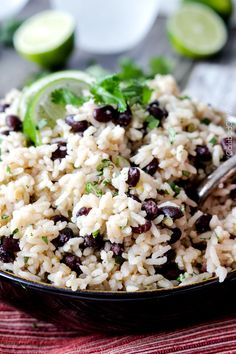 One Pot Cilantro Lime Rice (with Black Beans) | Carlsbad Cravings