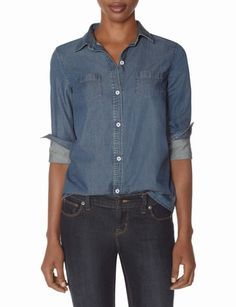 OBR Denim Shirt from THELIMITED.com #TheLimited