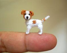 Doberman Tiny Crochet Miniature Dog Stuffed Animals by SuAmi