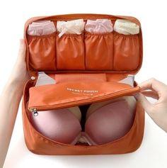 Una manera de no maltratar tus sostenes mientras viajas.
