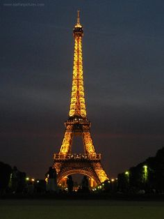 Friday night go to Champ de Mars (park in front of Eiffel Tower) to watch the lights come on
