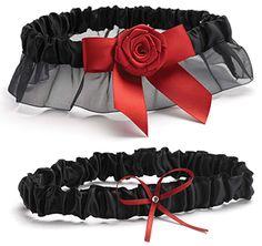 Midnight Rose Wedding Garter Set