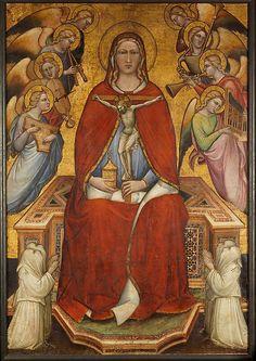 Saint Mary Magdalen Holding a Crucifix;  Spinello Aretino (Spinello di Luca Spinelli) (Italian, born Arezzo 1345–52, died 1410 Arezzo)