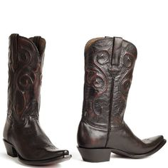 Cowboylaarzen heren Black Cherry Santa Fe (Men)