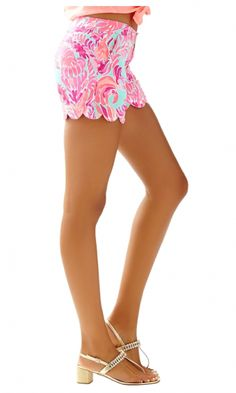 Lilly Pulitzer Lovebirds Buttercup Shorts
