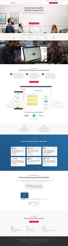 Gusto web homepage