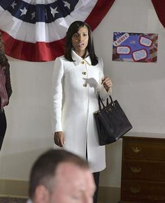 Scandal Fashion Credits: All the Details on What the Stars Wore - SEASON 4, EPISODE 7: PRADA COAT, PRADA BAG from #InStyle