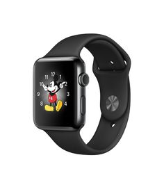 Apple Watch - Space Black Stainless Steel Case with Black Sport Band - Apple