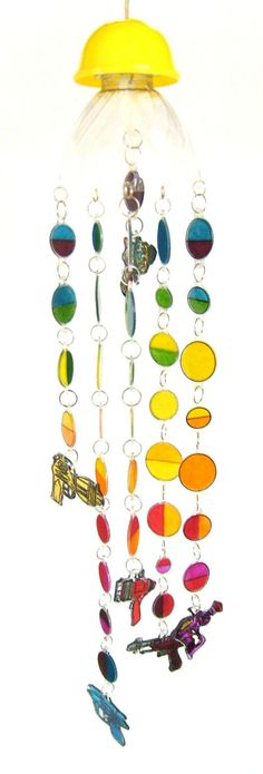 fun! ... Raygun Suncatcher Mobile. by MaryJeansThings, via Etsy.