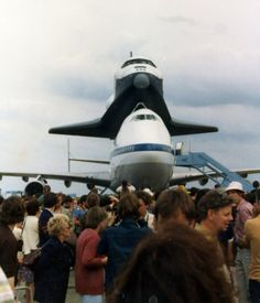 On 5 June 1983, Shuttle Enterprise touched down at Stansted airport as part of a European tour that also took in Germany, France and Italy. Crowds of 200,000 people turned out to watch the unique spectacle, while many more watched the flight over west and north London. Photo by Stuart Axe