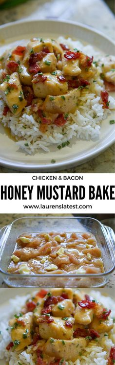Chicken & Bacon Honey Mustard Bake....such an easy and yummy dinner that is so fast to throw together. And I had ALL these ingredients on hand to make TODAY!