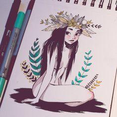 Ninfa by Misspingu.deviantart.com on @DeviantArt
