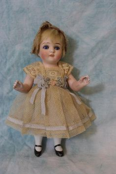 5.5 Inch Antique All Bisque German Doll Unmarked Cute Face! Antique Outfit c1900 | eBay