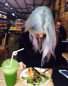 baby blue, hair, pastel, tumblr, violet, gemma styles, hair goals