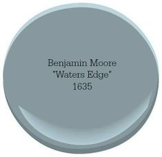 Benjamin Moore Waters Edge A coastal-inspired color palette can turn your home into a relaxing escape. Our top picks for choosing the best coastal blue paint colors for your home. Blue Paint Colors, Bedroom Paint Colors, Exterior Paint Colors, Paint Colors For Home, Wall Colors, House Colors, Color Blue, Furniture Paint Colors, Cottage Paint Colors